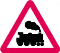 Railway Level Crossing Without Gate Or Berrier